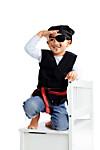"""Kostümset """"Pirat"""", 4-teilig, schwarz, Größe 104/110"""