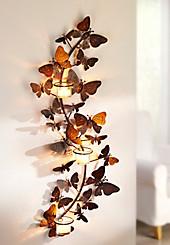 """Wand-Teelichthalter """"Papillon"""""""